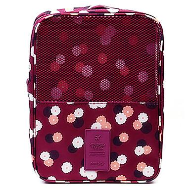 Poggyászrendező utazáshoz Cipőtáska utazáshoz Hordozható Tárolási készlet mert Ruhák Cipők Anyag / Virágos Utazás