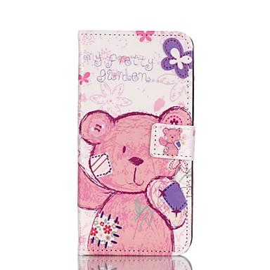Para Samsung Galaxy S7 Edge Carteira / Porta-Cartão / Com Suporte / Flip Capinha Corpo Inteiro Capinha Animal Couro PU SamsungS7 edge /