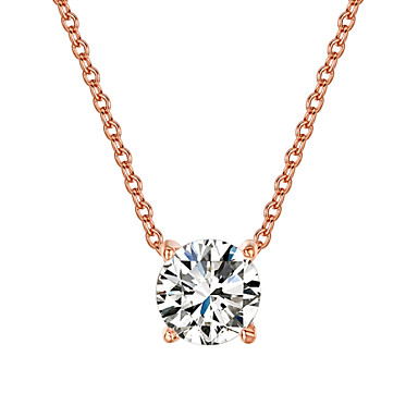 Női Páros Nyaklánc medálok Kristály Kristály Kocka cirkónia utánzat Diamond Ötvözet Divat Imádni való minimalista stílusú Ezüst Aranyozott
