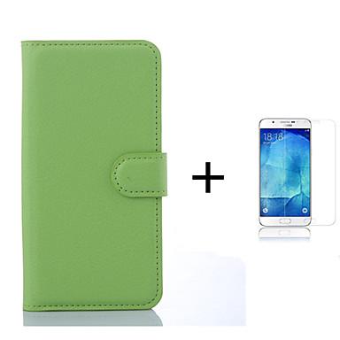 Mert Kártyatartó / Pénztárca / Állvánnyal / Flip Case Teljes védelem Case Egyszínű Kemény Műbőr Samsung S6 edge
