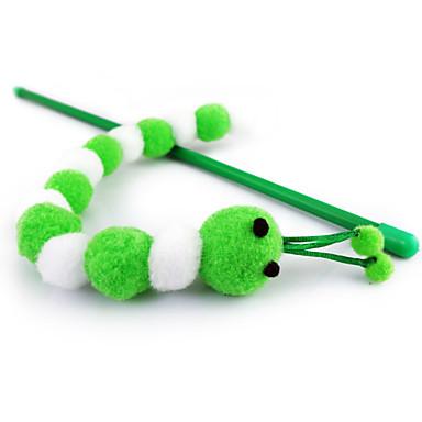 Cicajáték Játékok kisállatoknak Ugratások Kukac Rovar Műanyag Rózsaszín és zöld Fehér/Zöld