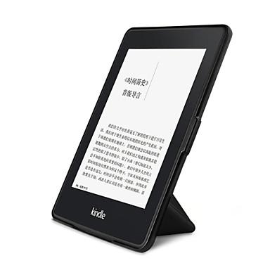 Capinha Para Amazon Kindle Capa de Corpo Inteiro Capa Proteção Completa Estampado Côr Sólida Inovador Rígida PU Leather para
