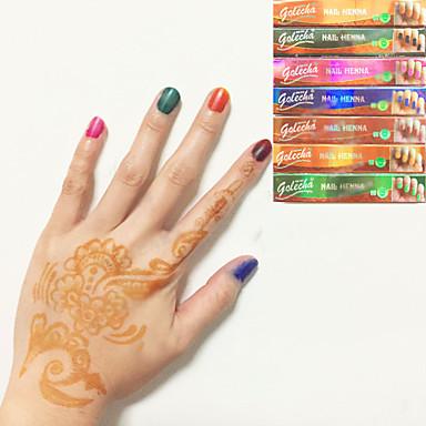 o dia das bruxas 6x cor preta henna cones de ervas tatuagem temporária tinta corpo kit de arte mehandi