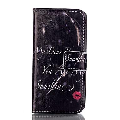 Mert iPhone 5 tok Kártyatartó Pénztárca Állvánnyal Flip Case Teljes védelem Case Szó / bölcselet Kemény Műbőr mert AppleiPhone 7 Plus