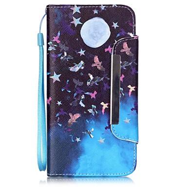 Mert iPhone 6 tok / iPhone 6 Plus tok Pénztárca / Kártyatartó / Állvánnyal Case Teljes védelem Case Pillangó Kemény Műbőr AppleiPhone 6s