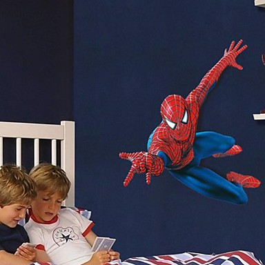 muurstickers muur stickers, cartoon super spider-man kinderen houden van pvc muurstickers
