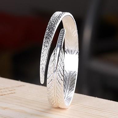 Dames Cuff armbanden Verzilverd Zilver Sieraden Voor Bruiloft Kerstcadeaus 1 stuks