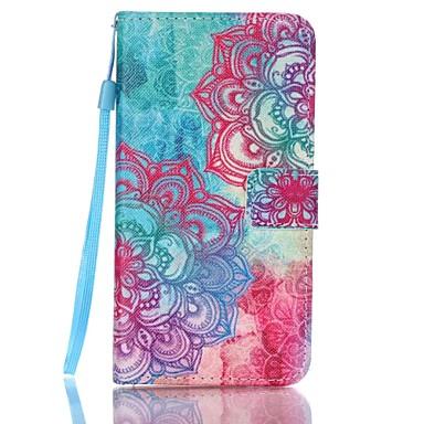 Para Samsung Galaxy Capinhas Carteira / Porta-Cartão / Com Suporte / Flip Capinha Corpo Inteiro Capinha Flor Couro PU Samsung J5 (2016)