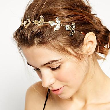 ieftine Bijuterii de Păr-Pentru femei Fete De Bază Natură stil minimalist Placat Auriu Aliaj Cordeluțe Nuntă Petrecere / Leaf Shape