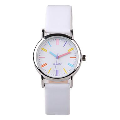 Dames Modieus horloge Kwarts PU Band Wit Wit