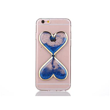 Capinha Para Apple Capinha iPhone 5 iPhone 6 iPhone 6 Plus iPhone 7 Plus iPhone 7 Liquido Flutuante Transparente Capa traseira Desenhos 3D