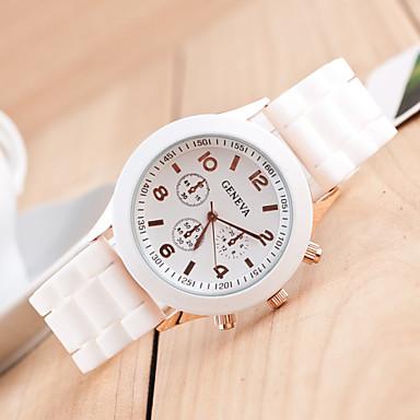 Erkek Spor Saat Elbise Saat İskelet Saat Moda Saat Bilek Saati Quartz Silikon Bant İhtişam Günlük Çok-Renkli