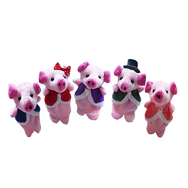 Porc Păpuși Drăguț Încântător Novelty Desen animat textil Pluș Fete Băieți Cadou 5pcs