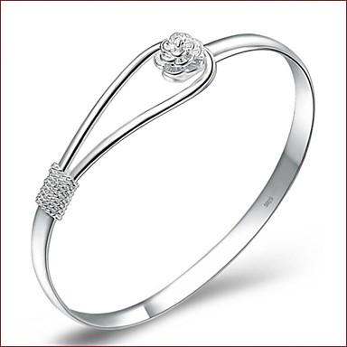 Feminino Pulseiras Algema bijuterias Prata Chapeada Jóias Para Casamento