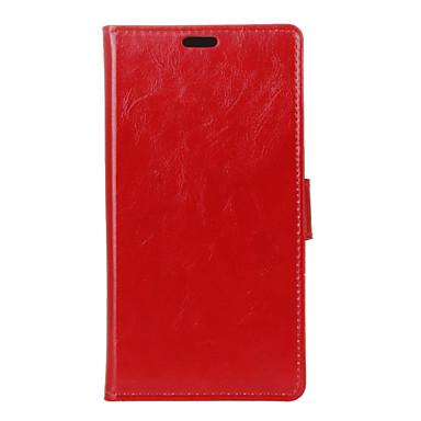 Mert Huawei tok Pénztárca / Kártyatartó / Állvánnyal / Flip Case Teljes védelem Case Egyszínű Kemény Műbőr Huawei Huawei Honor 5X