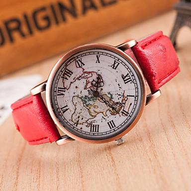 Pentru femei Ceas Sport Ceas Elegant Ceas La Modă Ceas de Mână Quartz Piele Autentică Bandă Charm Casual World Map Pattern Multicolor