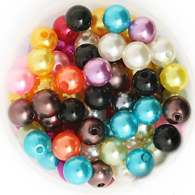 DIY Κοσμήματα Ροζ Χρυσαφί Πράσινο Ανοικτό Ουράνιο Τόξο Κρύσταλλο Round Shape Χάντρα DIY Κολιέ Βραχιόλια