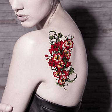 Tetkó matricák Virág sorozat rajzfilmsorozat Rajzfilm Női Férfi Felnőtt Tini flash-Tattoo ideiglenes tetoválás