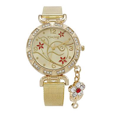 Női Divatos óra Szimulált Gyémánt Karóra Kvarc Alkalmi óra utánzat Diamond ötvözet Zenekar Heart Shape Virág Arany