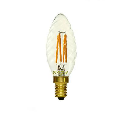 1 db. NO E14 3W 4 COB 150-260 lm Meleg fehér C35 Állítható / Dekoratív LED gyertyaizzók AC 220-240 V