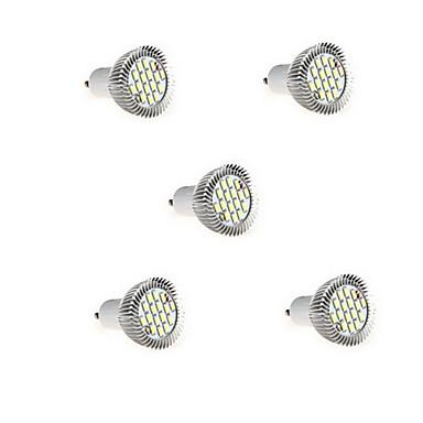 5 stuks 5w gu10 led spotlight 16 smd5630 650lm warm wit koud wit 3000k / 6500k decoratief ac85-265v
