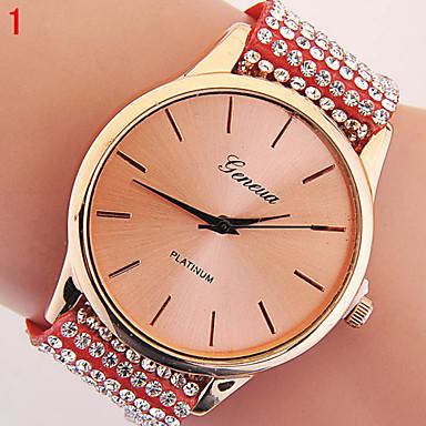 여성용 패션 시계 모조 다이아몬드 시계 석영 캐쥬얼 시계 모조 다이아몬드 고무 밴드 나비 블랙 화이트 블루 레드 그레이 핑크 멀티컬러