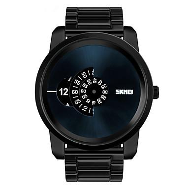 남성용 손목 시계 독특한 창조적 인 시계 석영 방수 합금 밴드 블랙 실버 골드