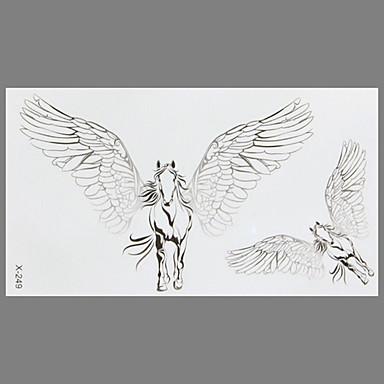 패션 문신 말 방수 문신 스티커 비행