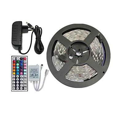 5m 150x5050 smd rgb luz conduzida da tira e controle remoto 44 chaves e 3a-nos fonte de alimentação (AC110-240V)