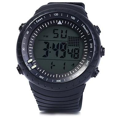 남성용 디지털 손목 시계 스포츠 시계 알람 달력 크로노그래프 방수 LED PU 밴드 참 블랙 블루 레드 퍼플 노란색