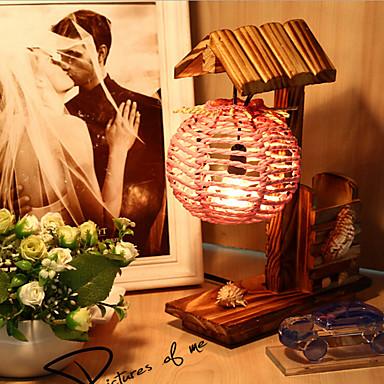 kreatív fa ház tollal tartály dekoráció asztali lámpa hálószoba lámpa ajándék gyerek (véletlenszerű szín)
