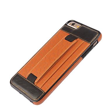 용 아이폰6케이스 / 아이폰6플러스 케이스 카드 홀더 / 스탠드 / 패턴 케이스 뒷면 커버 케이스 기하학 패턴 하드 인조 가죽 iPhone 6s Plus/6 Plus / iPhone 6s/6
