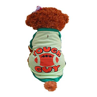 Σκύλος Φανέλα Ρούχα για σκύλους Γράμμα & Αριθμός Πράσινο Στολές Για κατοικίδια
