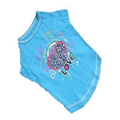 Hond T-shirt Hondenkleding Harten Roos Blauw Kostuum Voor huisdieren