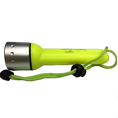 Dalış Fenerleri LED 350lm 1 Işıtma Modu Şarj Edilebilir / Su Geçirmez Dalış / Kayakçılık / Çok Fonksiyonlu Sarı