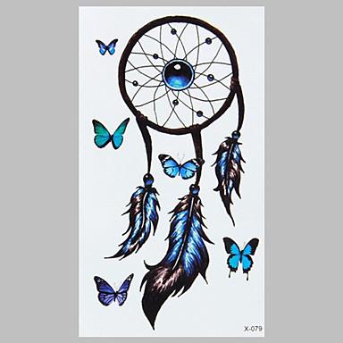 partysu 블루 나비 인도 캐쳐 패션 방수 문신 스티커