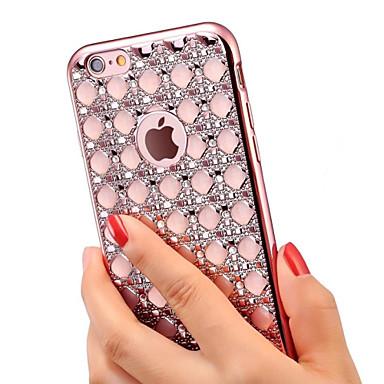 제품 iPhone X iPhone 8 iPhone 6 iPhone 6 Plus 케이스 커버 크리스탈 도금 뒷면 커버 케이스 글리터 샤인 소프트 TPU 용 iPhone X iPhone 8 Plus iPhone 8 iPhone 6s Plus