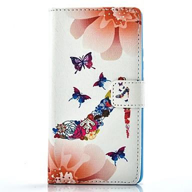 케이스 제품 화웨이 P9 화웨이 P9 라이트 Huawei P9 Lite P9 화웨이 케이스 카드 홀더 지갑 스탠드 전체 바디 케이스 버터플라이 하드 PU 가죽 용