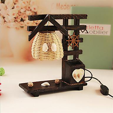 kreatív fa ház tollal tartály dekoráció asztali lámpa hálószoba lámpa ajándék kölyök