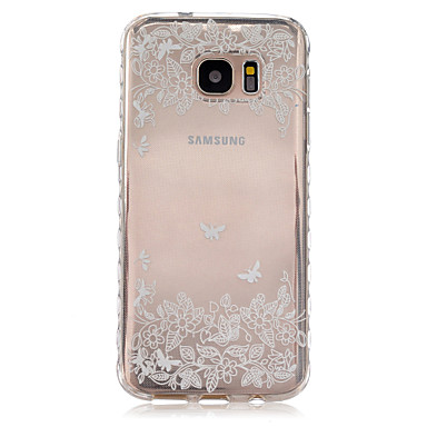 용 Samsung Galaxy S7 Edge 투명 / 패턴 케이스 뒷면 커버 케이스 꽃장식 TPU Samsung S7 edge / S7