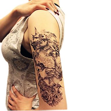 ano novo série de animais flores pássaros padrão tamanho 22 * 16 * 0,1cm tatuagem tatuagens temporárias tatuagens temporárias (1pcs)