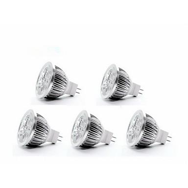 4W GU5.3(MR16) Lâmpadas de Foco de LED MR16 4 leds Branco Quente 350-400lm 3000-3500K DC 12V
