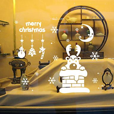 동물 로맨스 크리스마스 휴일 벽 스티커 플레인 월스티커 데코레이티브 월 스티커, 비닐 홈 장식 벽 데칼 벽