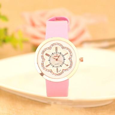 여성용 패션 시계 모조 다이아몬드 시계 석영 가죽 밴드 블루 레드 브라운 그린 핑크 노란색 카키
