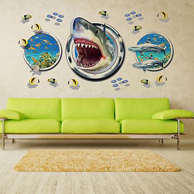 벽 데칼 데코레이티브 월 스티커 - 3D 월 스티커 경치 동물 로맨스 패션 모양 3D 교통 휴일 만화 Fantasy 보타니칼 재부착가능 이동가능 물 세탁 가능