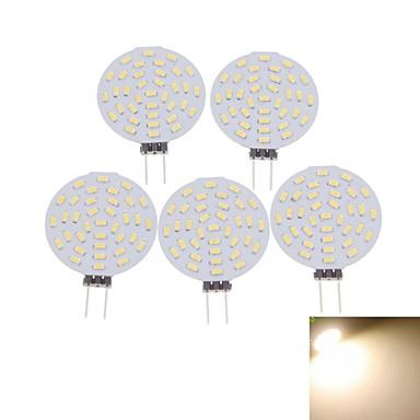 SENCART 5pcs 3 W 400-480 lm G4 LED-kohdevalaisimet MR11 36 LED-helmet SMD 3014 Koristeltu Lämmin valkoinen / Kylmä valkoinen 12 V / 5 kpl / RoHs