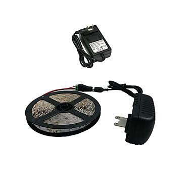 5m Esnek LED Şerit Işıklar 300 LED'ler 3528 SMD Beyaz Kesilebilir 12 V / IP44