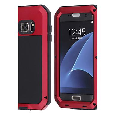 Недорогие Чехлы и кейсы для Galaxy S6-Кейс для Назначение SSamsung Galaxy S8 Plus / S8 / S7 edge Защита от удара / Защита от влаги Чехол Животное Твердый Металл
