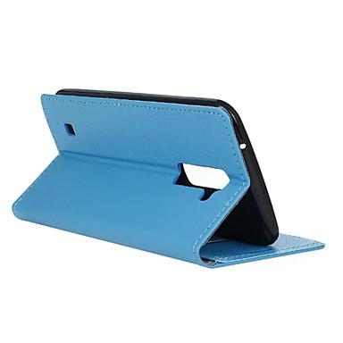 K7의 경우 패션 카스 그레인 패턴 질감 케이스 (모듬 색상)를 LG에 대한 카드 슬롯 플립 커버 지갑 스타일
