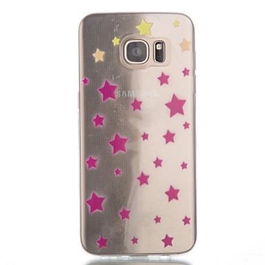 Kompatibilitás Samsung Galaxy S7 Edge tokok Átlátszó Minta Hátlap Case Mértani formák Hőre lágyuló poliuretán mert SamsungS7 edge S7 S6
